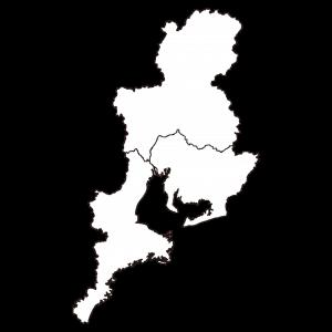 中部地方シルエット